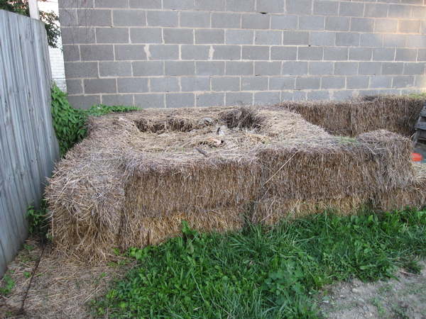 strawbale compost